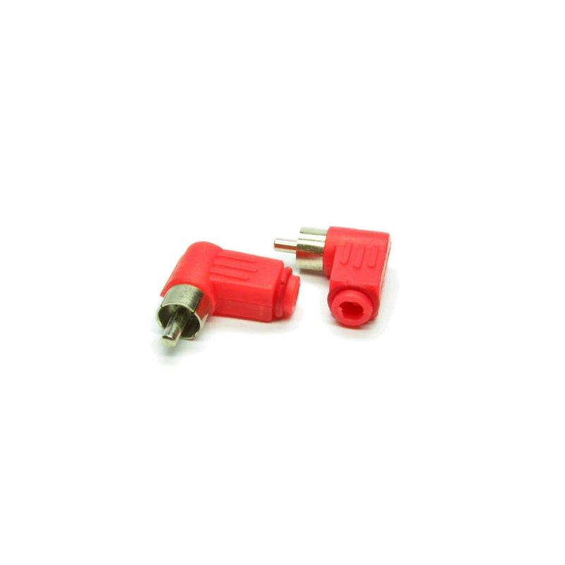 Cinch Stecker Kunststoff rot gewinkelt