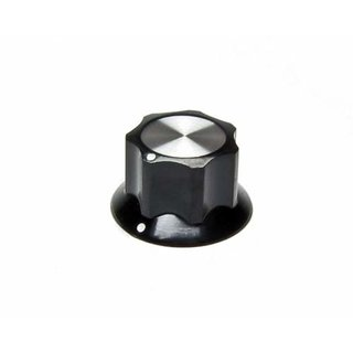 Black Fluted Silver Center 26mm, white dots