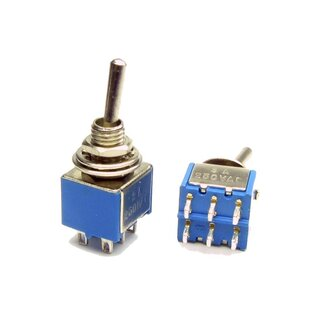 Pedals 3 x 3PDT Mini Toggle Switch On//On Ideal For Guitars Electronic Projects