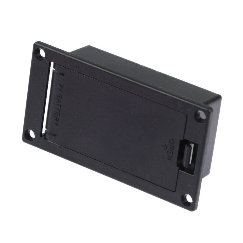 Average 10k Time >> 9V battery holder panel mount horizontal, 2,00