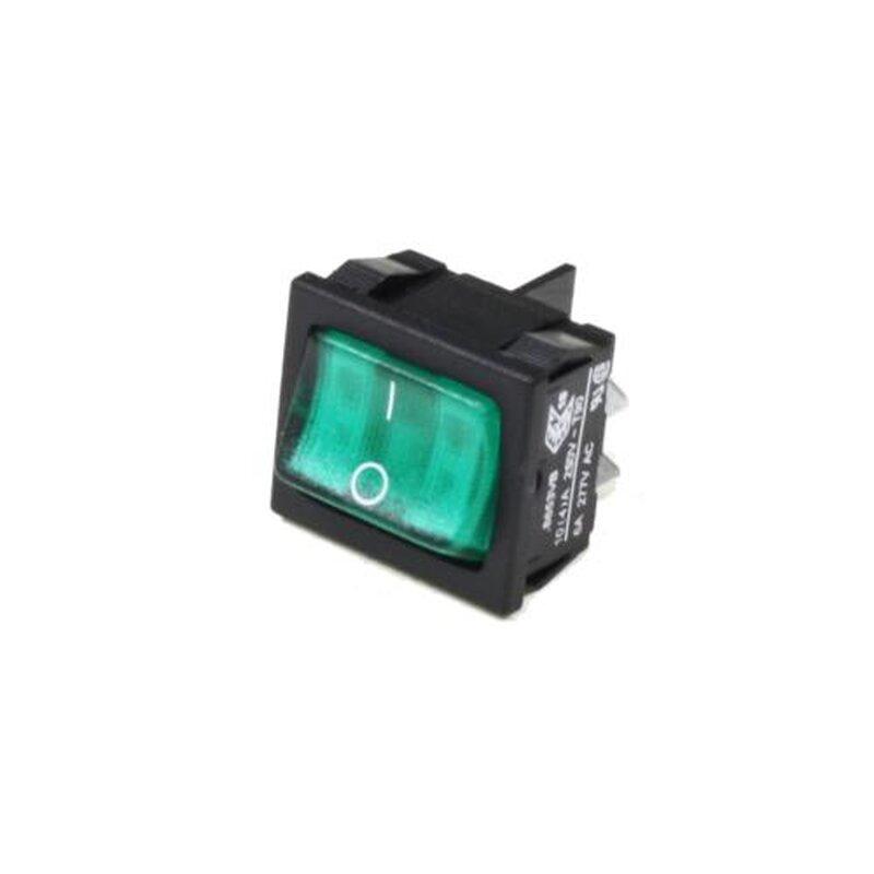 Rocker switch DPST green illuminated 0-1, 2,00 €