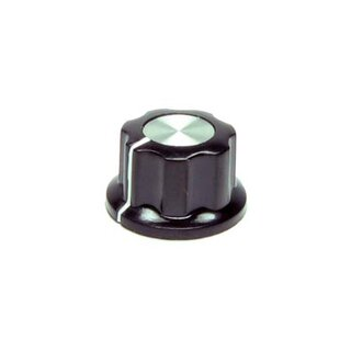 Black Fluted Silver Center 20mm