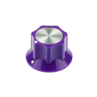 Purple Fluted Silver Center 26mm, white dots