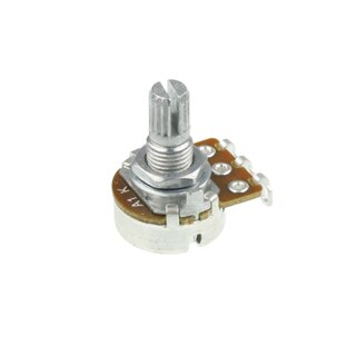 Potentiometer 22k log knurled shaft solder lugs