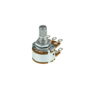 Potentiometer Dual 50k lin knurled shaft solder lugs