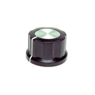 Black Fluted Silver Center 27mm