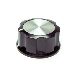 Black Fluted Silver Center 33mm