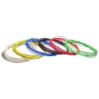 Hookup wire 0,5mm2 2m yellow