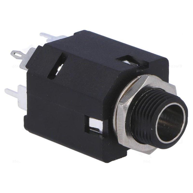 6,3mm Klinkenbuchse Stereo isoliert m. 2 Schaltern, 2,25 €