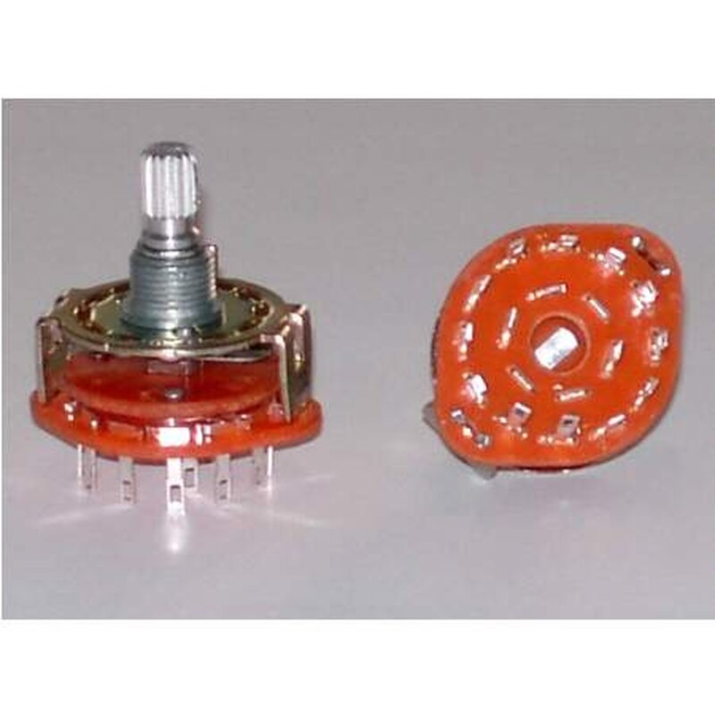 Rotary Switch 3p4t Open  1 10