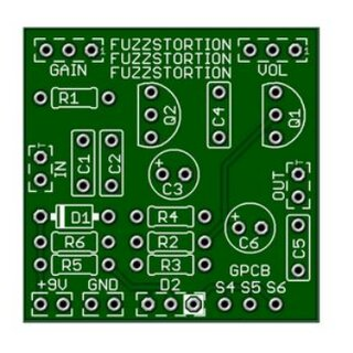 Fuzzstortion Platine